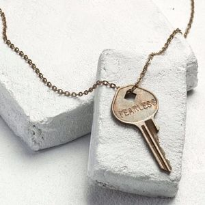 "The Giving Keys - Classic Key Necklace, ""Fearless"""